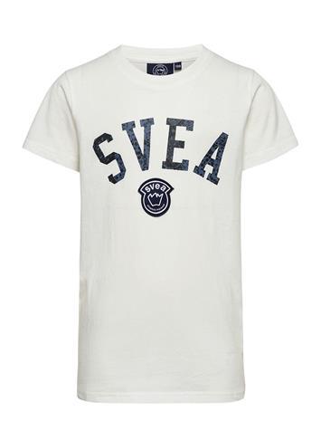 Svea K. Playful Logo Tee T-shirts Short-sleeved Valkoinen Svea WHINTER WHITE, Lastenvaatteet