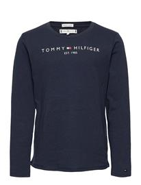 Tommy Hilfiger Essential Tee L/S T-shirts Long-sleeved T-shirts Sininen Tommy Hilfiger TWILIGHT NAVY, Lastenvaatteet