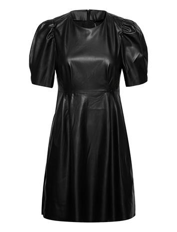 ONLY Onllauren Faux Leather Dress Otw Polvipituinen Mekko Musta ONLY BLACK, Naisten hameet ja mekot