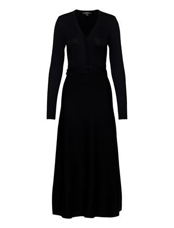 Esprit Collection Dresses Flat Knitted Maksimekko Juhlamekko Musta Esprit Collection BLACK, Naisten hameet ja mekot