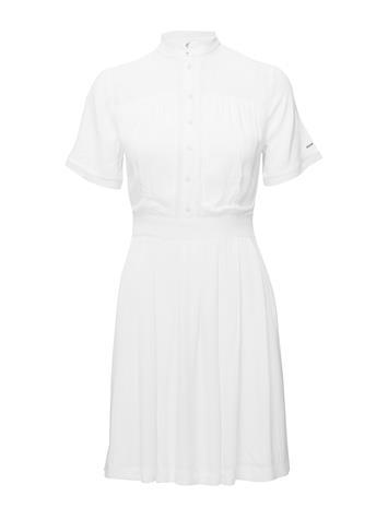 Tommy Jeans Tjw Pintuck Shirt Dress Lyhyt Mekko Valkoinen Tommy Jeans SNOW WHITE