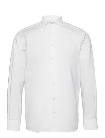 Bruun & Stengade Zlatan Paita Bisnes Valkoinen Bruun & Stengade WHITE, Miesten paidat, puserot ja neuleet