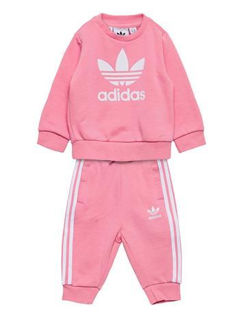 adidas Originals Crew Set Verryttelypuku Vaaleanpunainen Adidas Originals LTPINK/WHITE