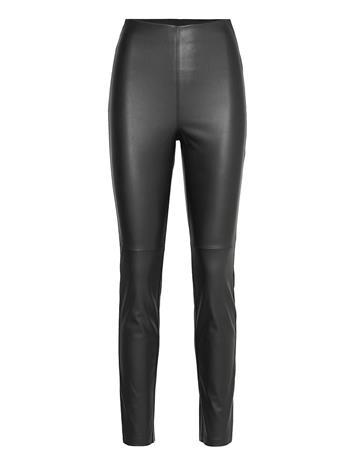Lindex Trousers Ronna Pu Leather Leggings/Housut Musta Lindex BLACK