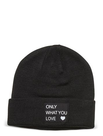 Kids Only Konmadison Logo Beanie Accessories Headwear Hats Musta Kids Only BLACK