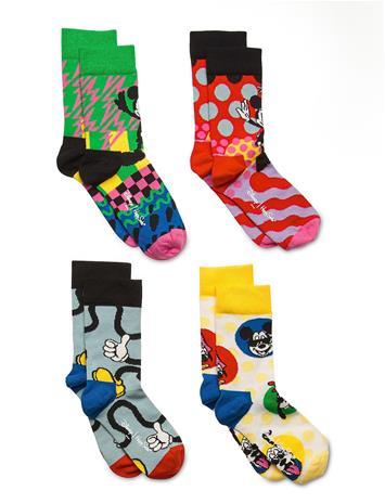 Happy Socks 4-Pack Kids Disney Gift Set Sukat Monivärinen/Kuvioitu Happy Socks MULTI