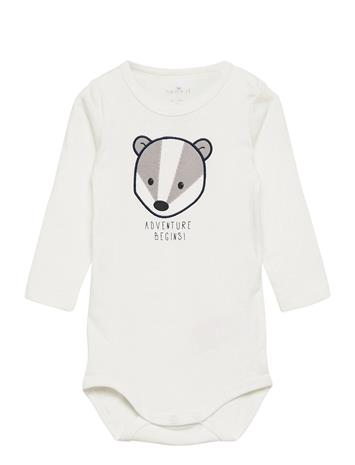 name it Nbmnorre Ls Body Bodies Long-sleeved Valkoinen Name It SNOW WHITE