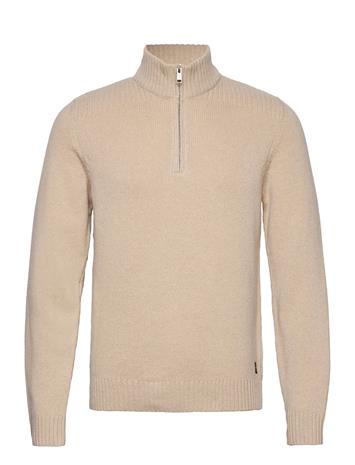 Marc O'Polo Pullover Long Sleeve Knitwear Half Zip Jumpers Beige Marc O'Polo CHINCHILLA