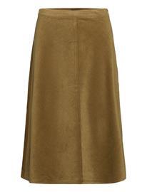Soaked in Luxury Slilia Skirt Polvipituinen Hame Vihreä Soaked In Luxury MILITARY OLIVE