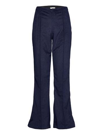 Mads Nä¸rgaard Drapy Corduroy Pirla Leveälahkeiset Housut Sininen Mads Nä¸rgaard DEEP BLUE