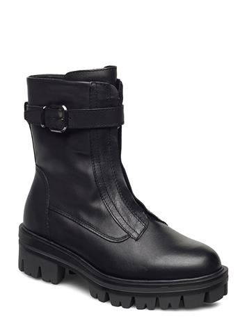 Tamaris Woms Boots Shoes Boots Ankle Boots Ankle Boot - Flat Musta Tamaris BLACK LEATHER