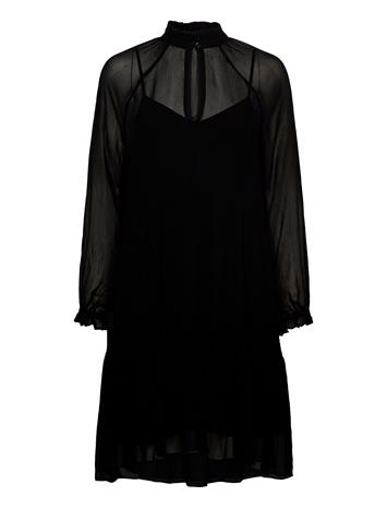 Second Female Tul Dress Polvipituinen Mekko Musta Second Female BLACK