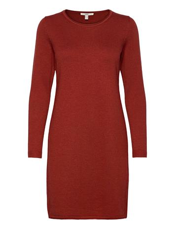 EDC by Esprit Dresses Flat Knitted Lyhyt Mekko Oranssi EDC By Esprit TERRACOTTA 5