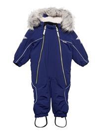 Molo Pyxis Fur Recycle Outerwear Snow/ski Clothing Snow/ski Suits & Sets Sininen Molo INK BLUE