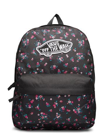 VANS Realm Backpack Reppu Laukku Musta VANS BEAUTY FLORAL BLACK