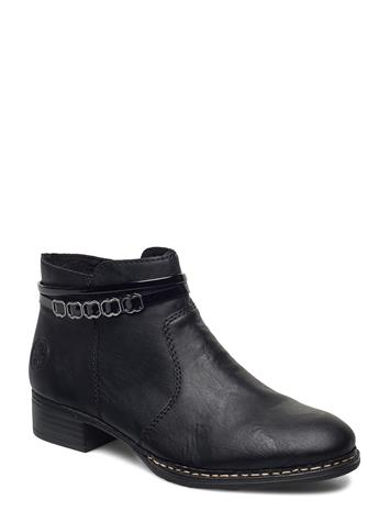Rieker 53478-01 Shoes Boots Ankle Boots Ankle Boot - Flat Musta Rieker BLACK