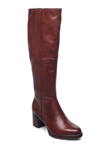 Tamaris Woms Boots Korkeavartiset Saapikkaat Punainen Tamaris GRANATA