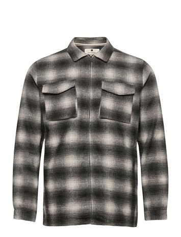 Anerkjendt Akhanky Check Brushed Shirt Paita Rento Casual Musta Anerkjendt CAVIAR