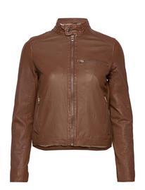 MDK / Munderingskompagniet Carli Thin Leather Jacket Nahkatakki Ruskea MDK / Munderingskompagniet MONKS ROBE