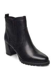 Tamaris Woms Boots Shoes Boots Ankle Boots Ankle Boot - Heel Monivärinen/Kuvioitu Tamaris BLACK