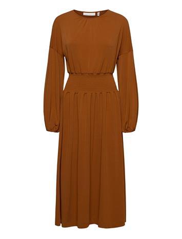 InWear Christeliw Dress Polvipituinen Mekko Ruskea InWear LEATHER BROWN