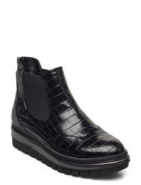 Tamaris Woms Boots Chelsea-saappaat Bootsit Musta Tamaris BLACK CROCO