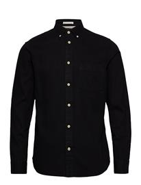 Selected Homme Slhregross Denim Shirt Ls J Paita Rento Casual Musta Selected Homme BLACK