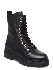 Tommy Hilfiger Rugged Classic Bootie Shoes Boots Ankle Boots Ankle Boot - Flat Musta Tommy Hilfiger BLACK