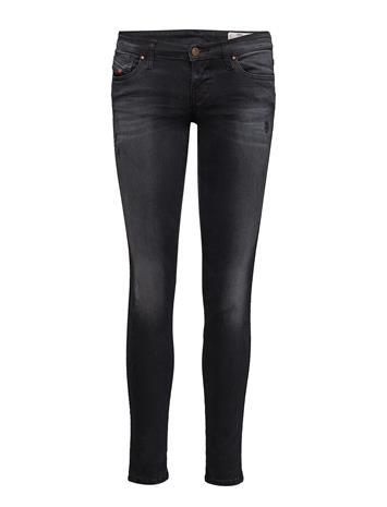 Diesel Women Skinzee-Low Trousers Skinny Farkut Musta Diesel Women BLACK/DENIM