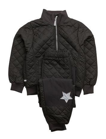 Mikk-Line Duvet Set W/Fleece Outerwear Thermo Outerwear Musta Mikk-Line 190/BLACK