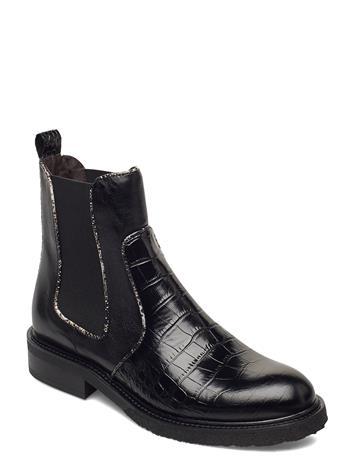 Billi Bi Boots 4759 Chelsea-saappaat Bootsit Musta Billi Bi BLACK LUISIANA CROCO/BOLIK 010
