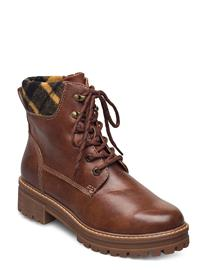 Tamaris Woms Boots Shoes Boots Ankle Boots Ankle Boot - Flat Ruskea Tamaris BRANDY/TARTAN