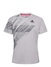 adidas Performance Freelift Printed Tee Heat.Rdy T-shirts Short-sleeved Harmaa Adidas Performance GREY