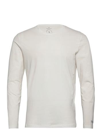 Tom Tailor Basic Organi T-shirts Long-sleeved Valkoinen Tom Tailor OFF WHITE, Miesten paidat, puserot ja neuleet