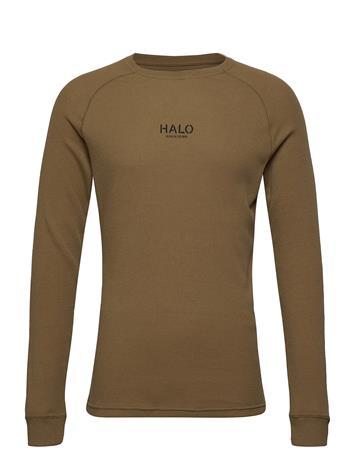 HALO Halo Waffle Longsleeve T-shirts Long-sleeved Ruskea HALO COYOTE BROWN, Miesten paidat, puserot ja neuleet
