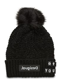 Desigual Accessories Hat Messages Accessories Headwear Beanies Musta Desigual Accessories NEGRO