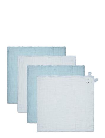 Pippi Organic Cloth Muslin 4-Pack Home Bath Time Towels And Cloths Sininen Pippi CELESTIAL BLUE