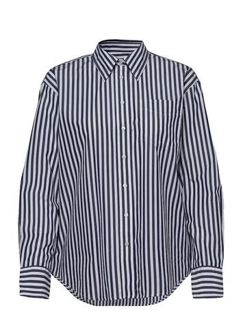 GANT D1. Crisp Cotton Relaxed Shirt Pitkähihainen Paita Sininen GANT PERSIAN BLUE, Naisten paidat, puserot, topit, neuleet ja jakut
