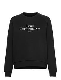 Peak Performance W Original Crew Cold Blush Svetari Collegepaita Musta Peak Performance BLACK, Naisten paidat, puserot, topit, neuleet ja jakut