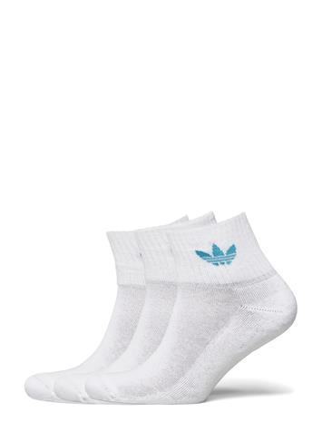 adidas Originals Mid Ankle Sck Nilkkasukat Lyhytvartiset Sukat Valkoinen Adidas Originals WHITE/TACSTE