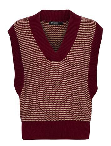 Soaked in Luxury Slmeredith Vest Knitwear Vests-indoor Ruskea Soaked In Luxury MADDER BROWN, Naisten paidat, puserot, topit, neuleet ja jakut
