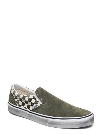 VANS Ua Classic Slip-On Matalavartiset Sneakerit Tennarit Vihreä VANS (WASHED) GRAPE LEAF/BLACK