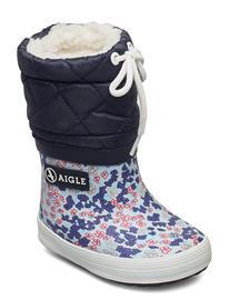 Aigle Ai Giboulee Print Sandy/Blue Talvisaappaat Sininen Aigle SANDY/BLUE, Lasten kengät