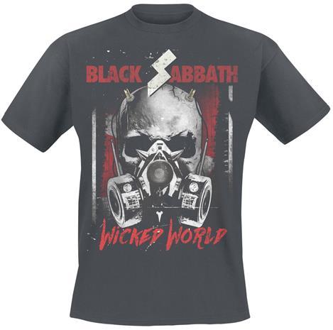 Black Sabbath - Wicked World - T-paita - Miehet - Hiilenharmaa
