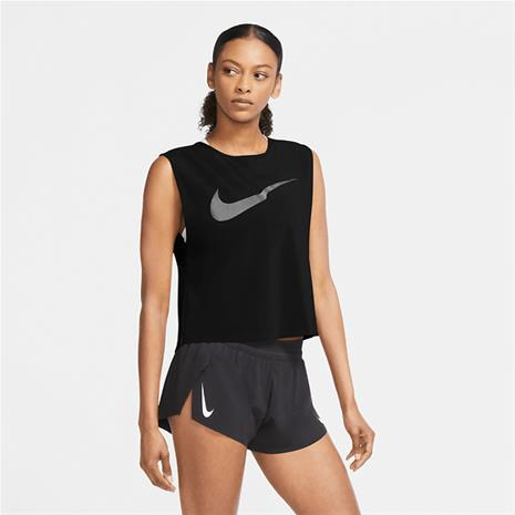 Nike W RUN DVN TANK PLEATED BLACK