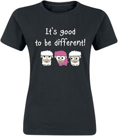 It's good to be different! - - T-paita - Naiset - Musta