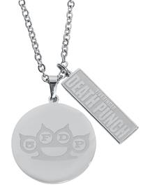 Five Finger Death Punch - Coin Necklace - Kaulakoru - Naiset - Hopeanvärinen