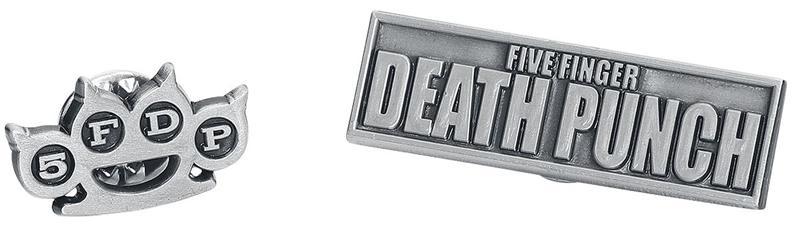 Five Finger Death Punch - Five Finger Death Punch - Pinssi - Unisex - Hopeanvärinen