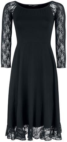 Outer Vision - Dress Norma - Keskipitkä mekko - Naiset - Musta