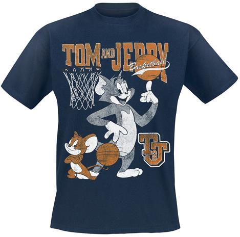 Tom und Jerry - Basketball - T-paita - Miehet - Laivastonsininen